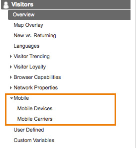 Where to find mobile user informaton in Google Analytics