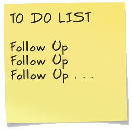 CRM Follow Up To Do List